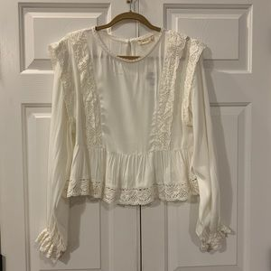 NWT Altar'd State Ivory Lace Blouse Size Large